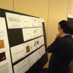 At poster presentation